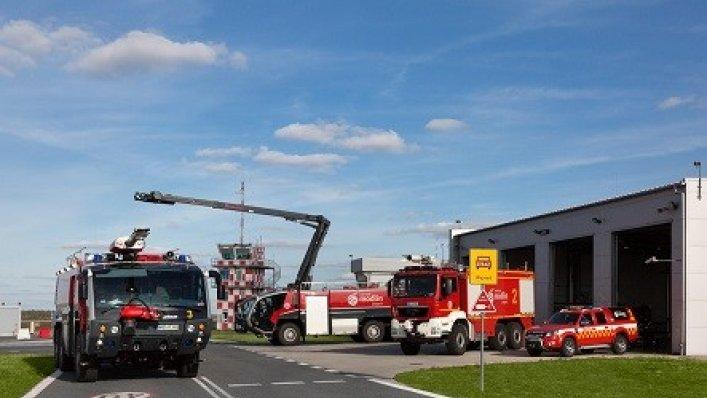 10-lecie strażaków na Lotnisku Warszawa-Modlin
