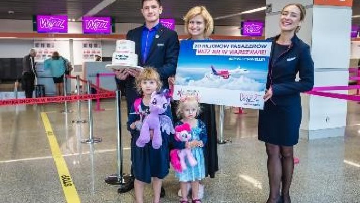 15 rocznica Wizz Air w Warszawie i 20-milionowy pasażer