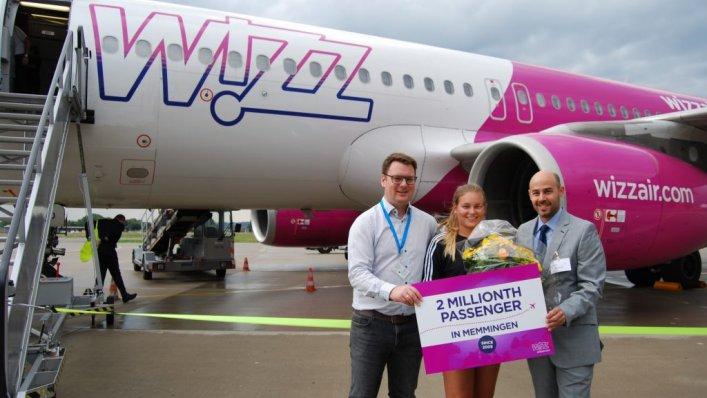 2 miliony pasażerów Wizz Air w Memmingen