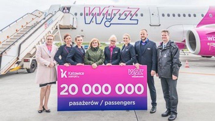20 milionowy pasażer Wizz Air w Katowicach!