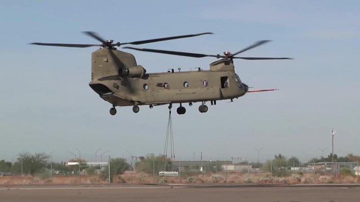 Amerykańska armia finansuje dalszy serwis wirników śmigłowca Chinook