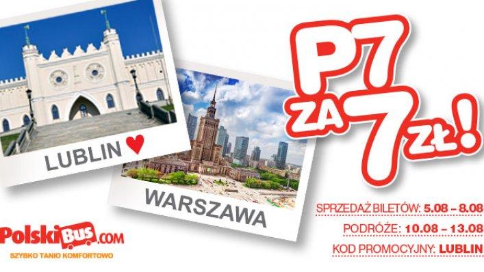Kod promocyjny na PolskiBus: Lublin - Warszawa za 7 PLN