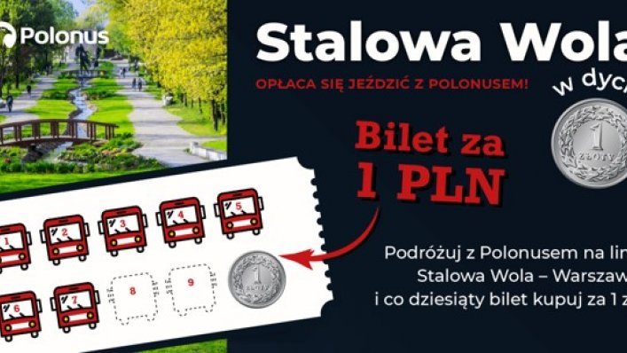 Kolejna promocja Polonus – dziesiąty bilet za 1 zł!
