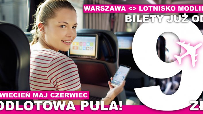 Modlinbus: nowa pula biletów za 9 PLN!