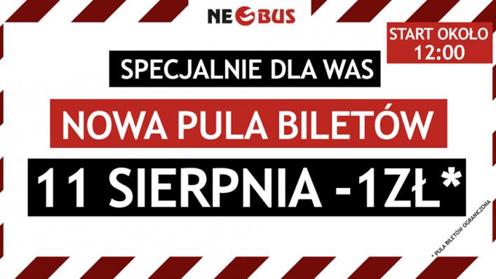 Nowa pula biletów od 1 PLN w NEOBUS