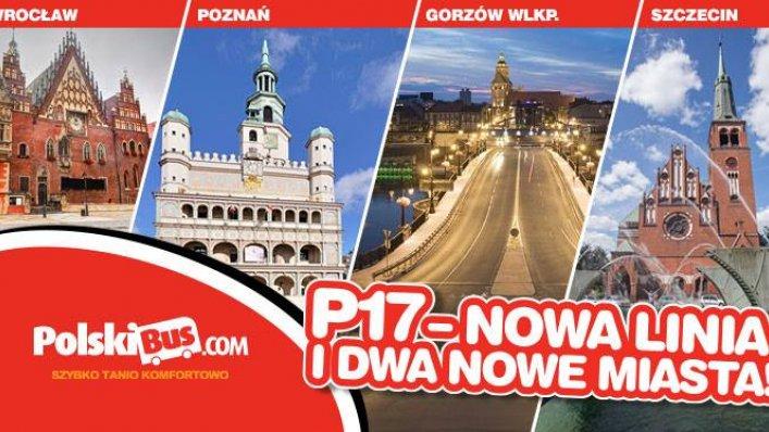 PolskiBus już od 5 września zostanie uruchomiona nowa linia P17
