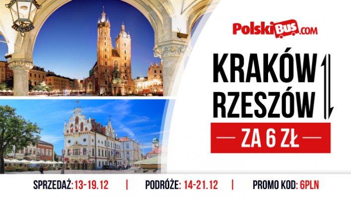 PolskiBus: Kraków - Rzeszów za 6 PLN!