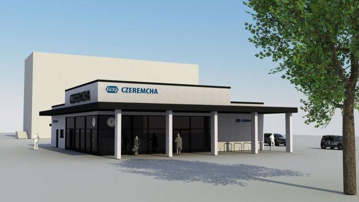 Projekt nowego dworca w Czeremsze
