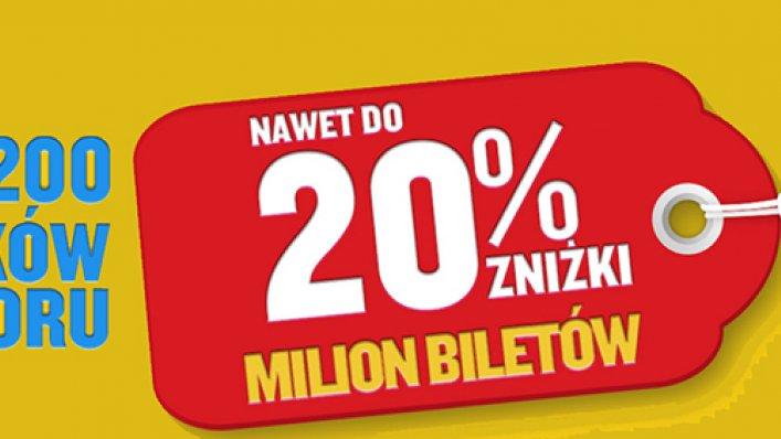 """Promocja Ryanair """"Milion biletów nawet do 20% taniej!"""""""