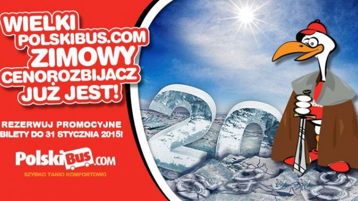 Promocja - wielki zimowy cenorozbijacz od PolskiBus