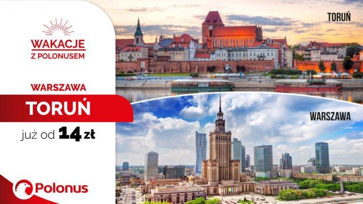 Polonus wypuszcza kolejną pulę promocyjnych biletów z Warszawy do Torunia już od 14 zł!