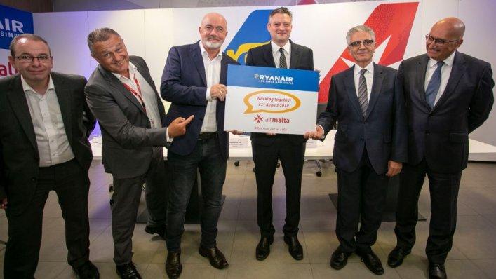 Ryanair podjął współpracę z Air Malta