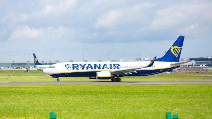 Ryanair - średnia emisja CO2 w lipcu