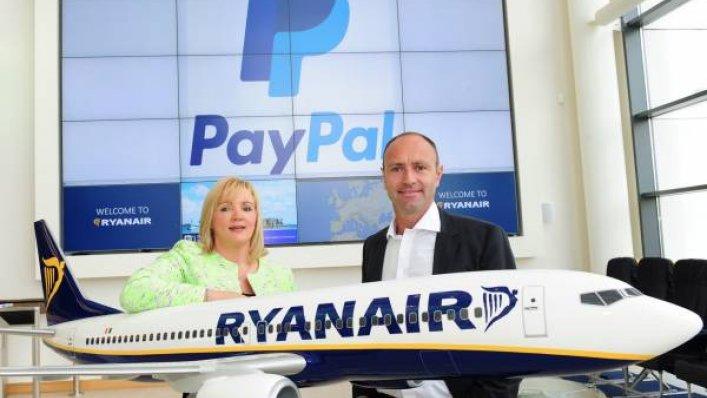 Ryanair - za bilety zapłacimy PayPalem