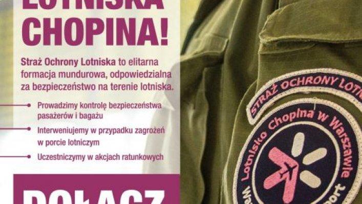 Straż Ochrony Lotniska w Warszawie szuka pracowników