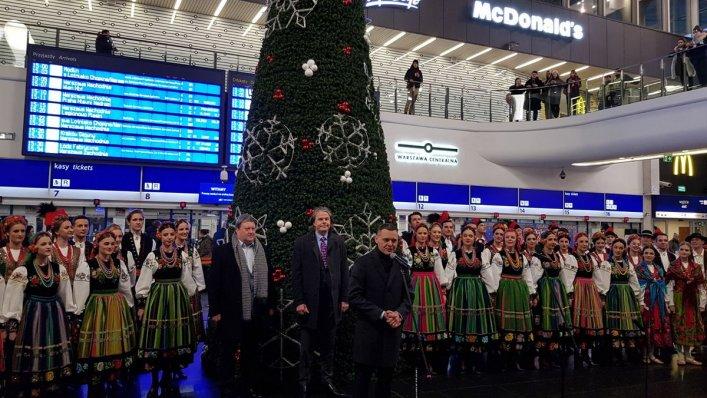 Świąteczna uroczystość na Dworcu Centralnym