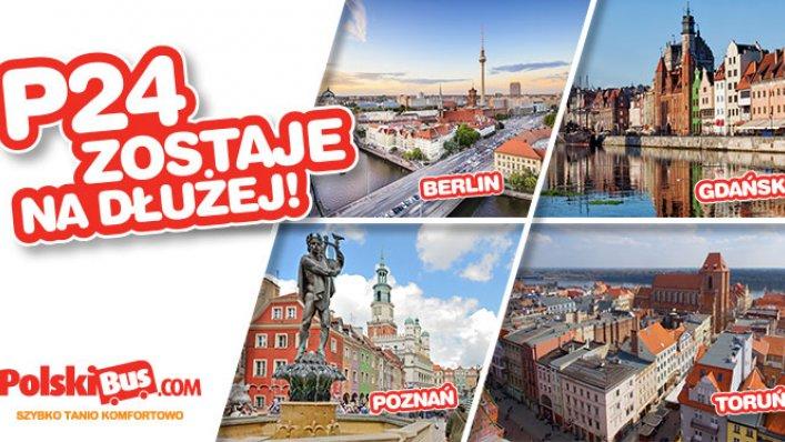 Wakacyjna linia P24 Gdańsk - Toruń - Poznań - Berlin przedłużona do końca września!