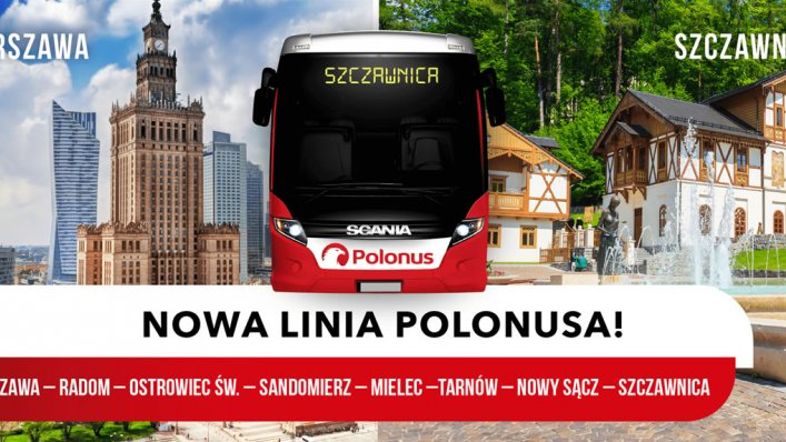 Warszawa-Szczawnica - nowa trasa Polonusa