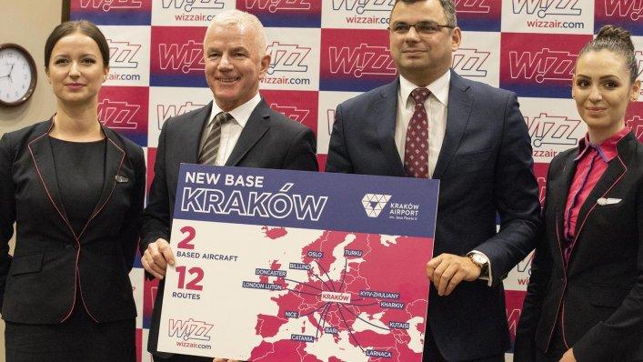 Wizz Air zakłada bazę w Krakowie