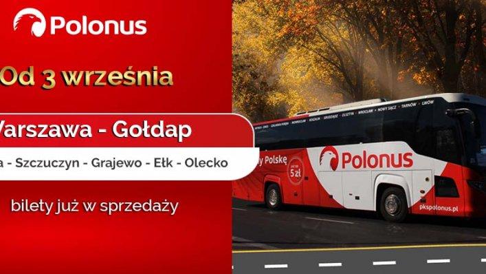 Wznowienie połączeń Polonusa z Warszawy do Gołdapi