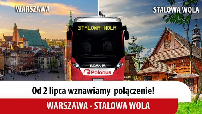 Wznowienie połączenia Warszawa – Stalowa Wola