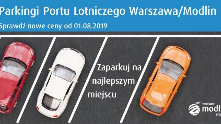 Zmiana cen na parkingu Warszawa-Modlin