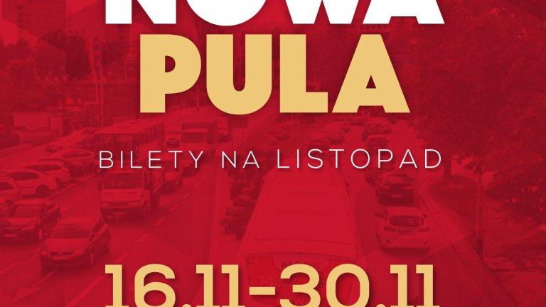 Nowa pula biletów Neobusa na listopad
